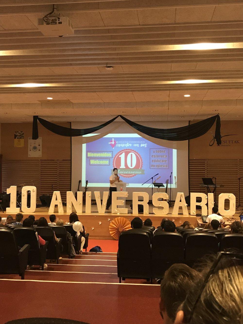 Celebrating 10 year Anniversary - Encuentro con Dios