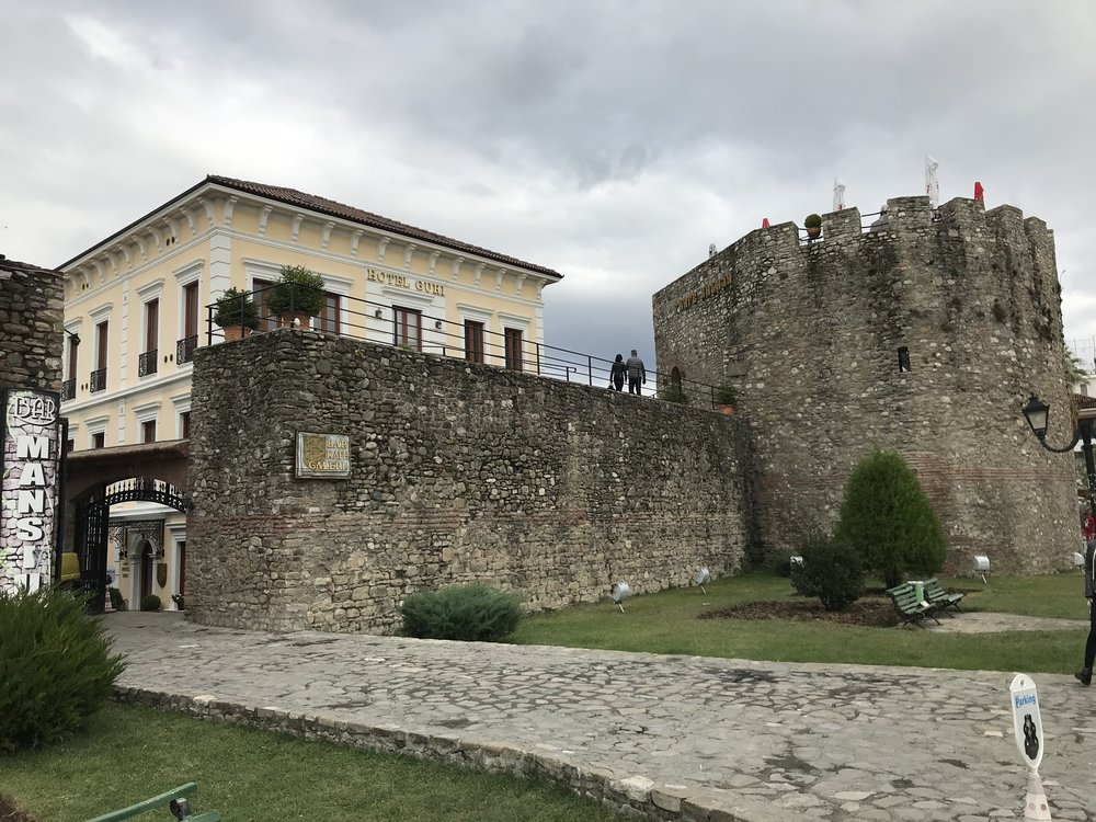 Elbasan team's home for the week: Hotel Guri -- located inside the 15th century castle walls