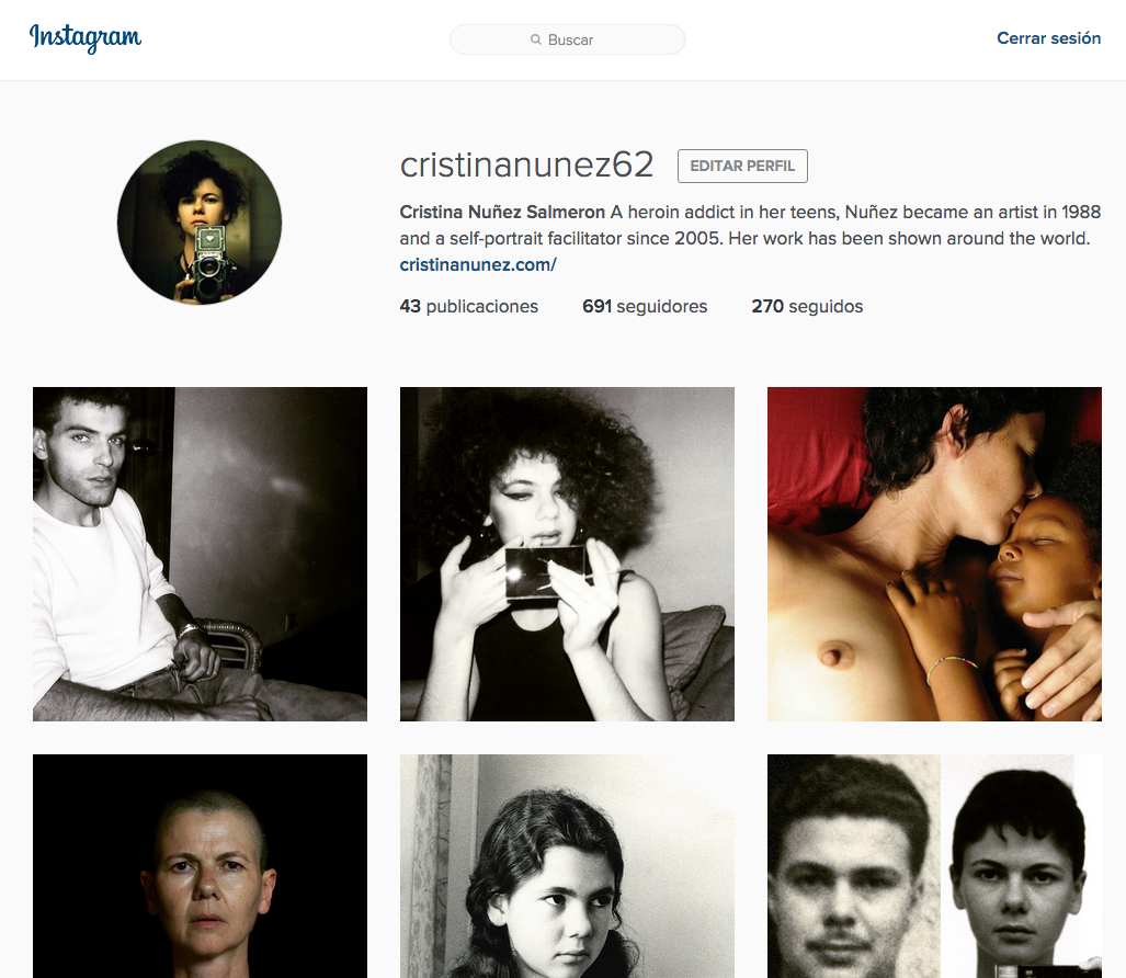 Check out Nuñez's new profile on Instagram, where she's posting her whole autobiography in images and texts, from her books