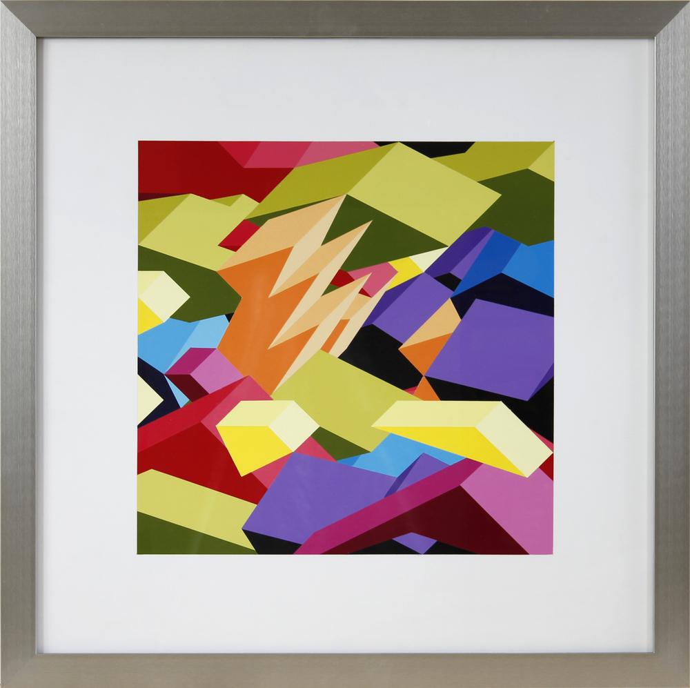 "M1, 2012, 26""×26"" acrylic on Sintra"