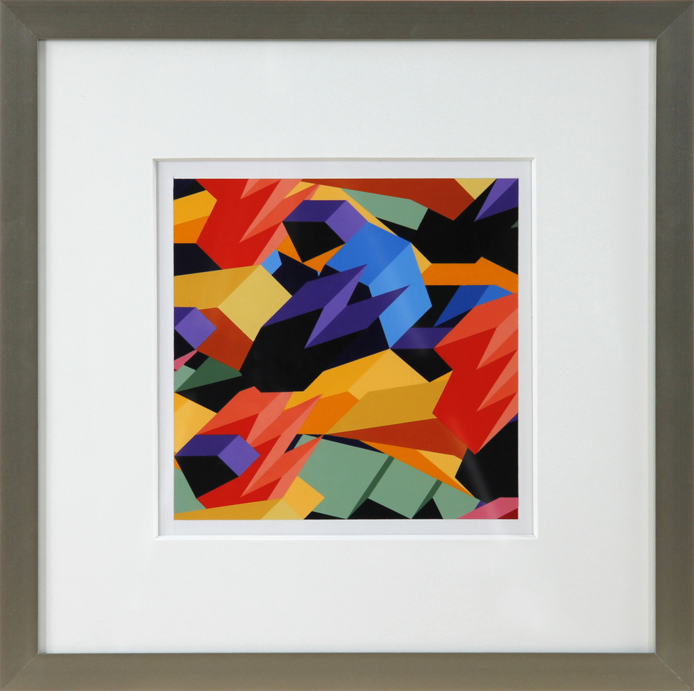 """S2, 2012, 16""""×16"""" acrylic on Sintra"""