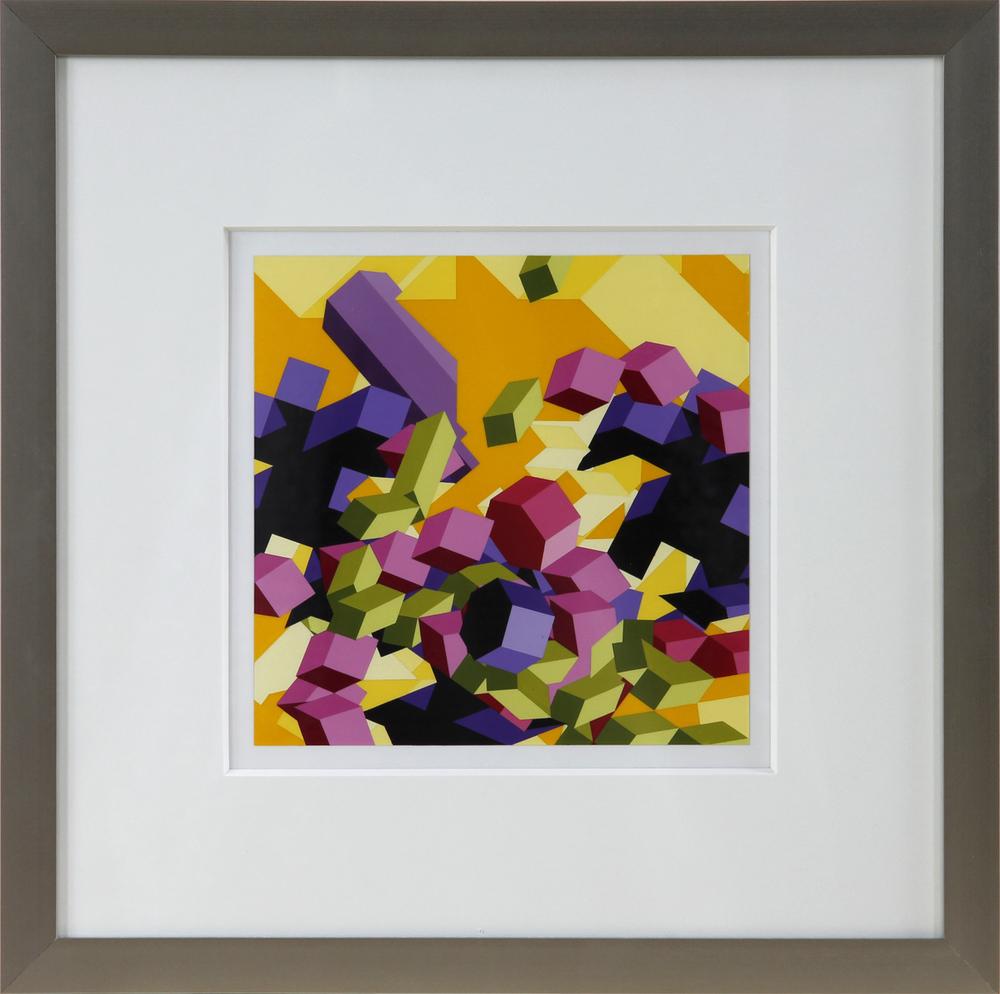 """S4, 2012, 16""""×16"""" acrylic on Sintra"""