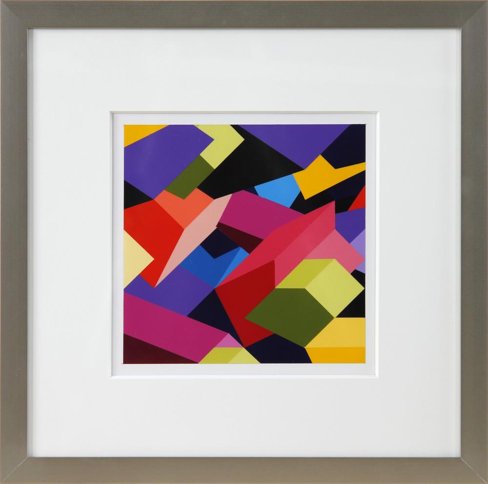 """S1, 2012, 16""""×16"""" acrylic on Sintra"""