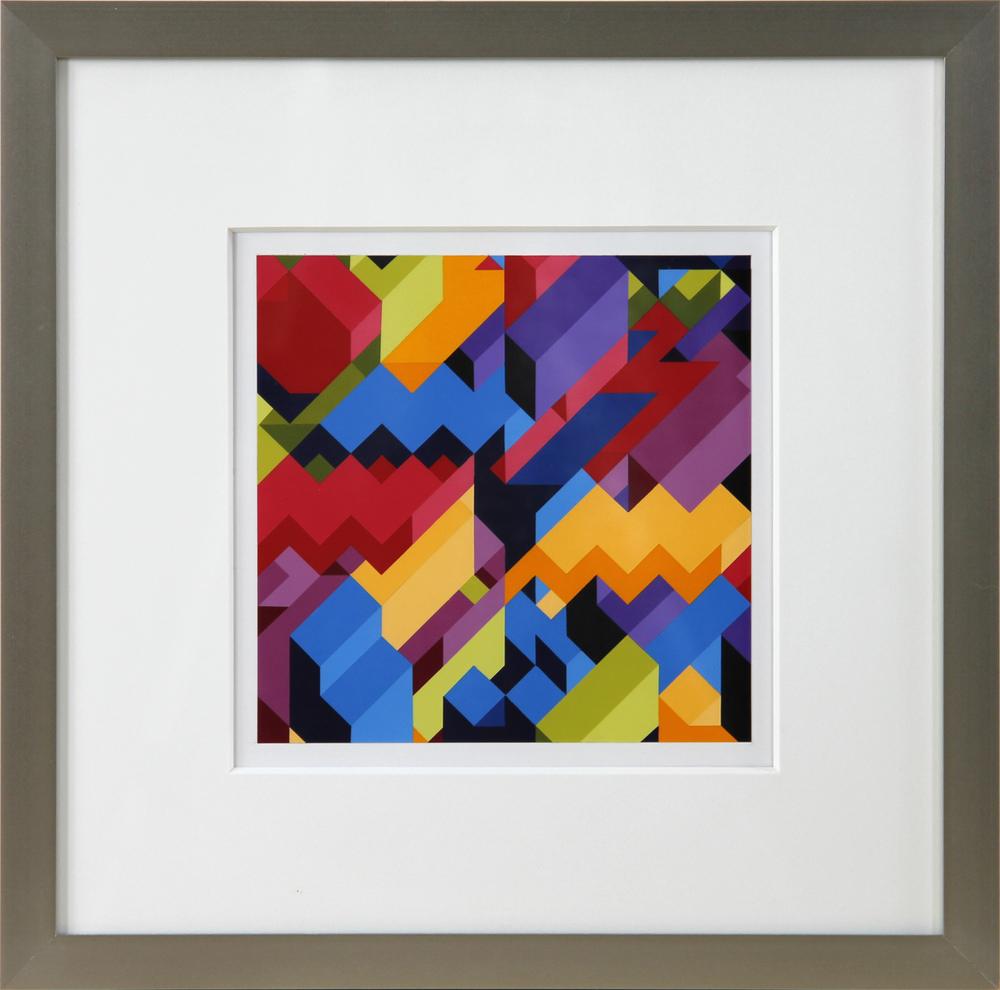 """S3, 2012, 16""""×16"""" acrylic on Sintra"""