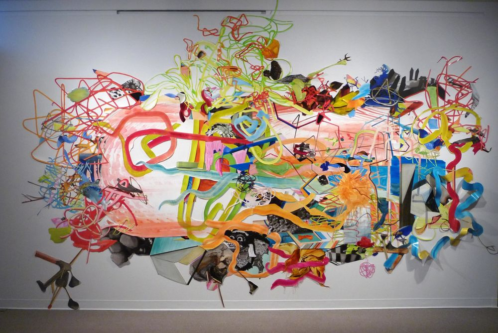 (1) Fort Miller Spring 2008, 2008, 19'X24' collaged oil on synthetic paper.jpg