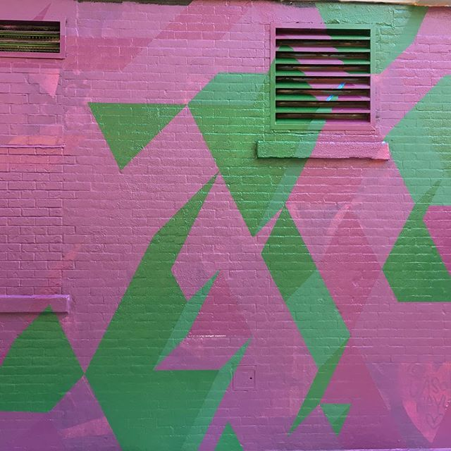 #mural #isometric #geometricart #muralonmott #thebeautywishlist #spacenk #spacenkusa #soho #nyc #streetart