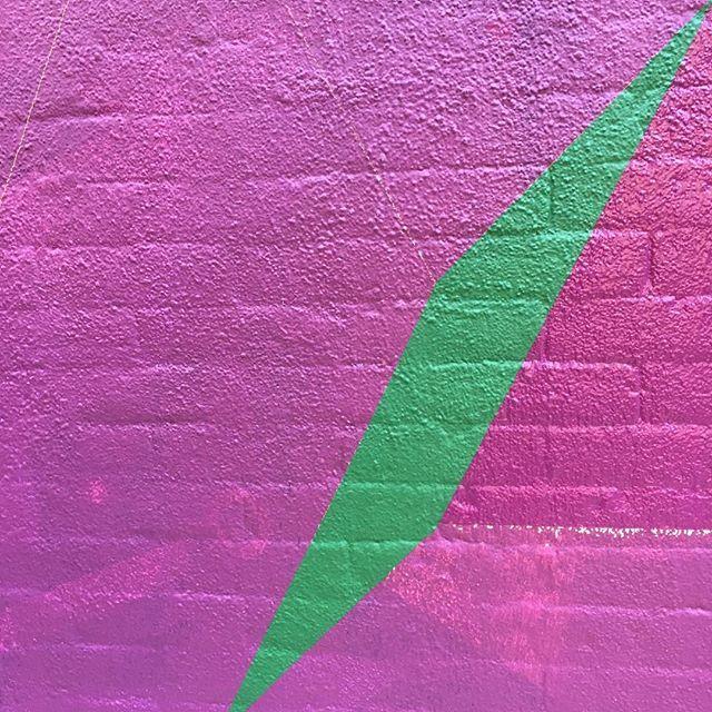 First green going down. #mural #isometric #geometricart #muralonmott #streetart #thebeautywishlist