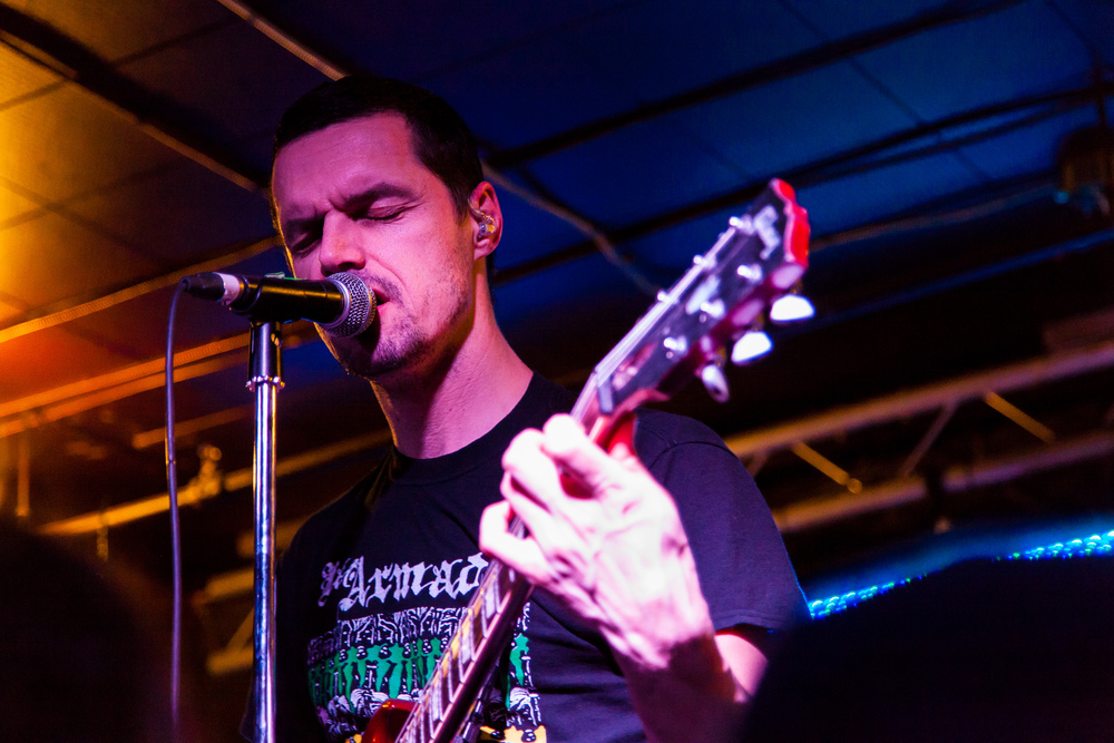 Chris Hannah of Propagandhi performs at the Windsor Hotel in Winnipeg, Manitoba.