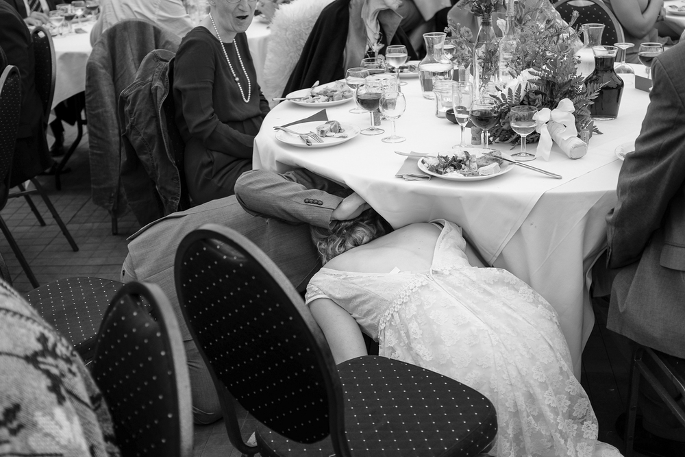 Kissing under the table is a danish wedding tradition