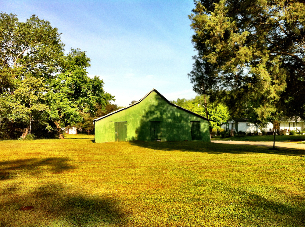 William Christenberry's  green barn in Newbern.