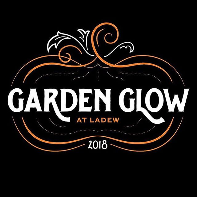 Logo designed @ashtondesign for #ladewgardenglow @ladewgardens last weekend. Such a neat event with illuminated sculptures, jack o' lanterns, live music, and delicious food. Carved butterfly pumpkin by @davidaashton himself, in honor of the butterfly house signage we've also been working on at Ashton Design.