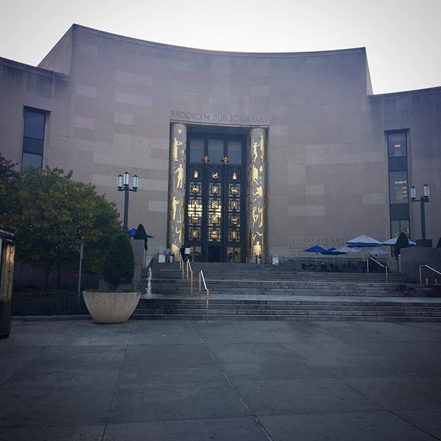 Speaking on a panel this morning on women in business at the incredible Grand Army Plaza public library in Brooklyn.
