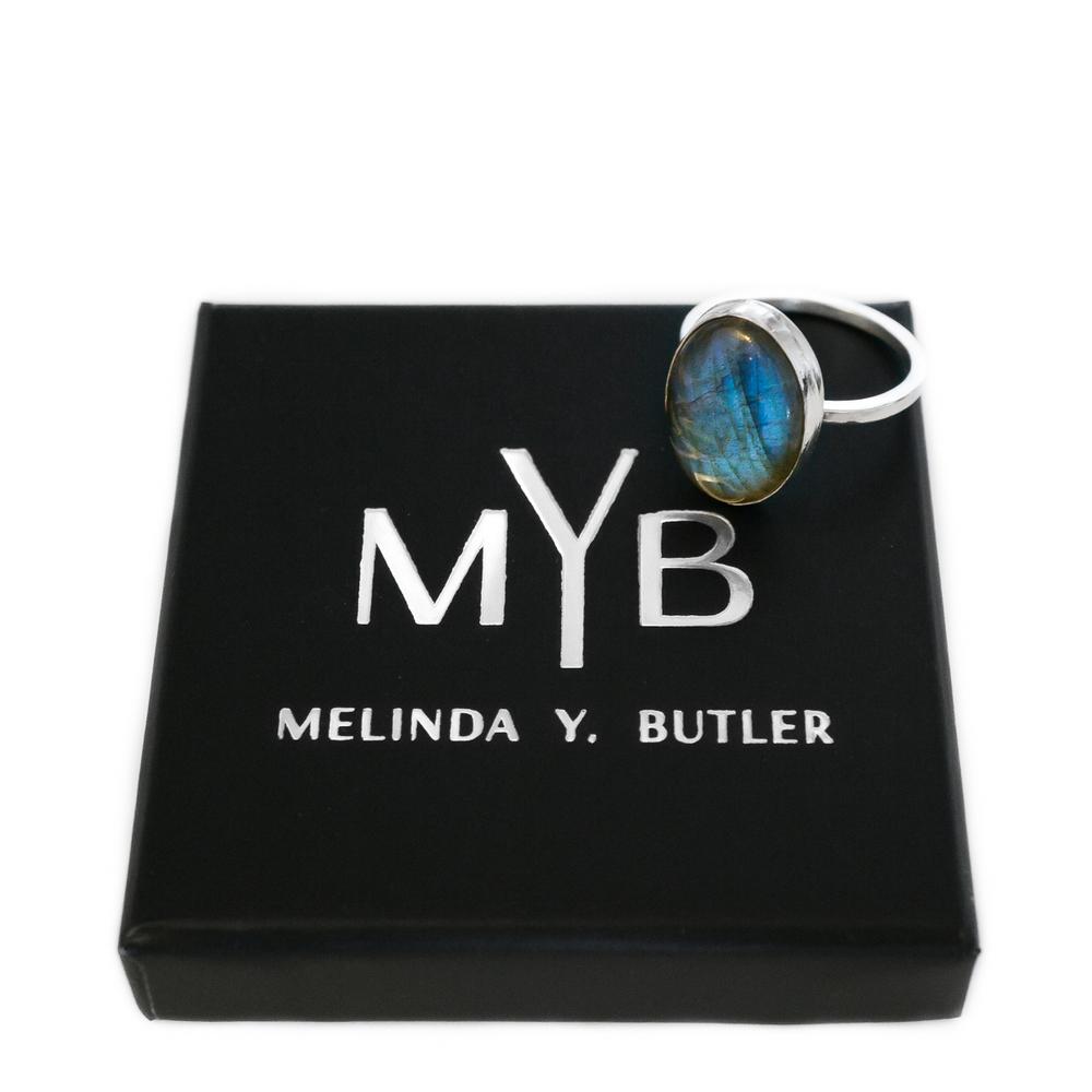 MYBjewelry Labradorite Ring Ocean