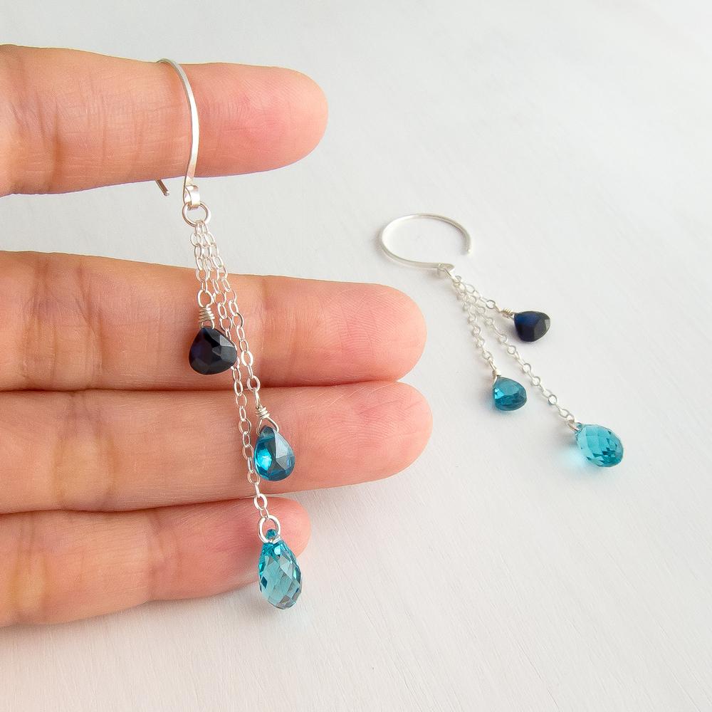 MYBjewelry Swarovski and CZ Waterfall
