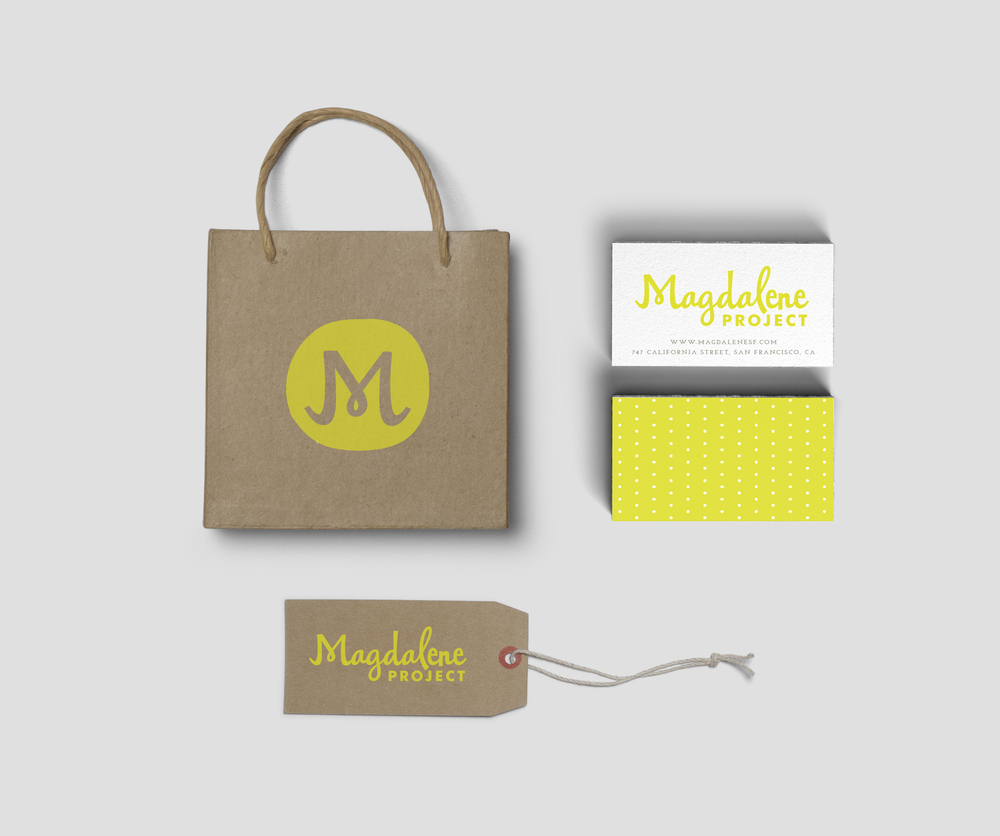 business card, shopping bag, retail tag