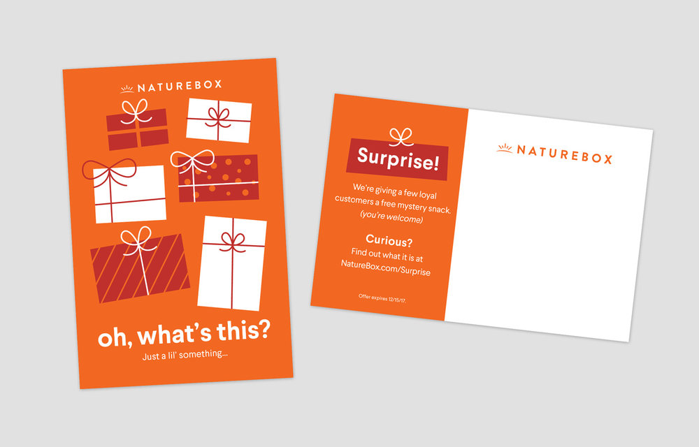 Mystery gift promotion