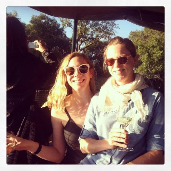 Sisterhood of the traveling wine glass.