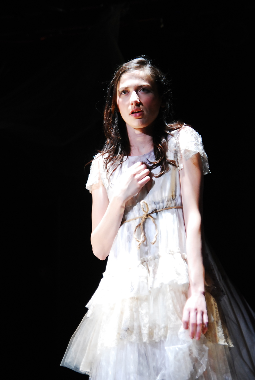 Robyn Buck as Arianna in  The Pliant Girls , Fugitive Kind's Ovation Award-winning production loosely based on Aeschylus's  The Suppliants .  Photo courtesy of Amanda McRaven   Download print quality (300 dpi)