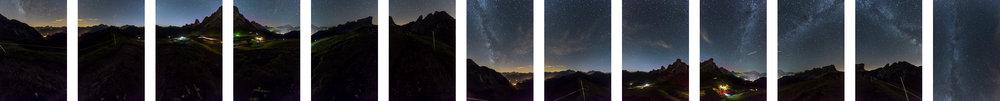 I 13 scatti realizzati per la composizione dell'immagine sferica