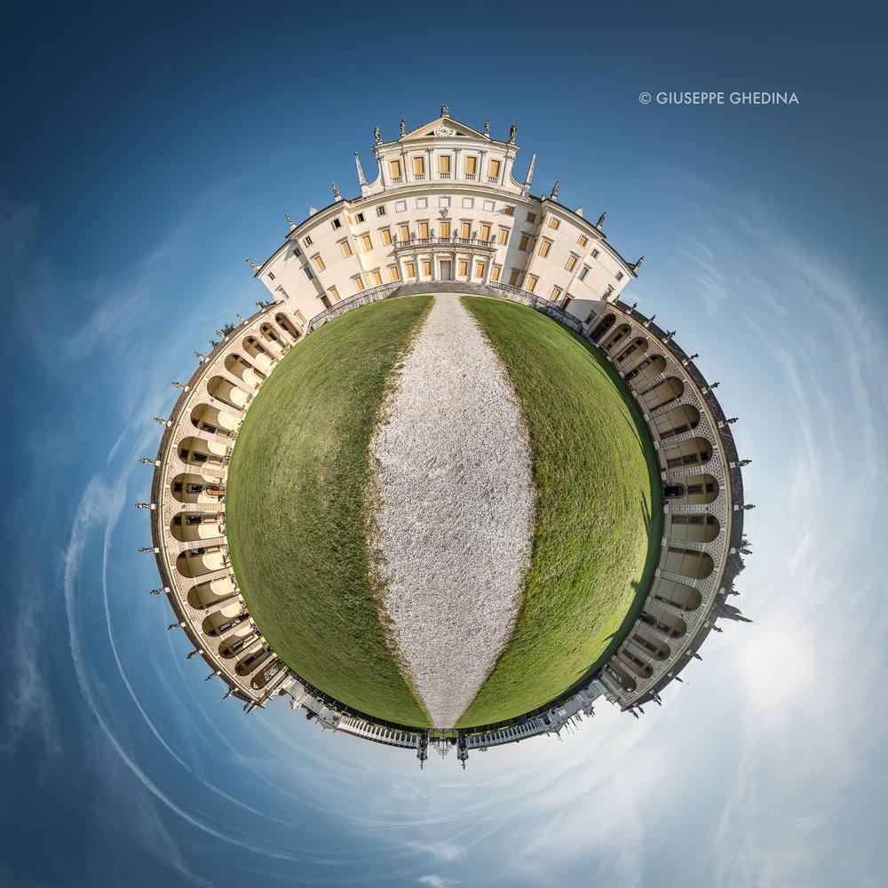 VILLA MANIN | Elaborazione grafica da immagine panoramica | © Giuseppe Ghedina