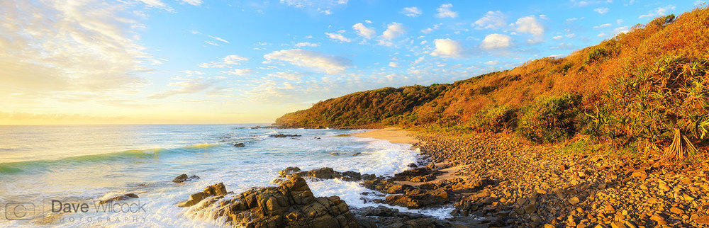 Coolum Beach 3rd bay panorama