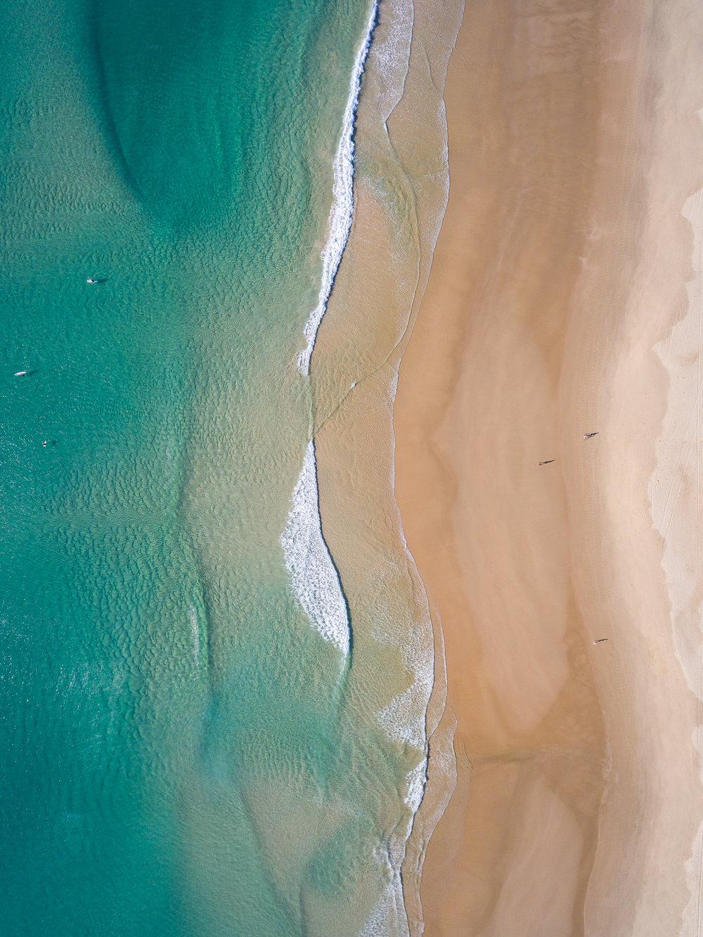 Flying high above Peregian Beach