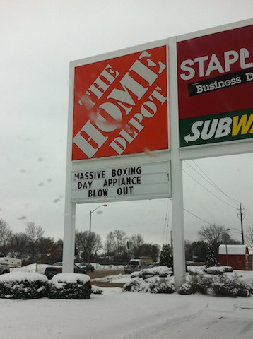 Spot The Typo On This Home Depot Sign