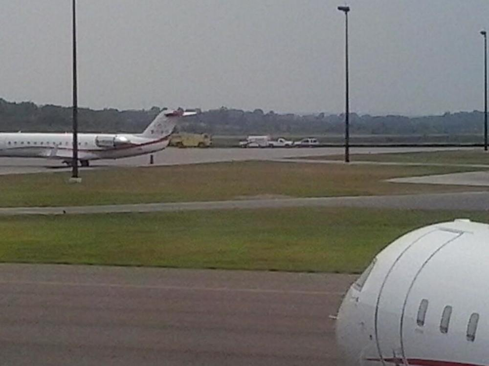 Photo via @DaveFB85 on Twitter of EMS on tarmac