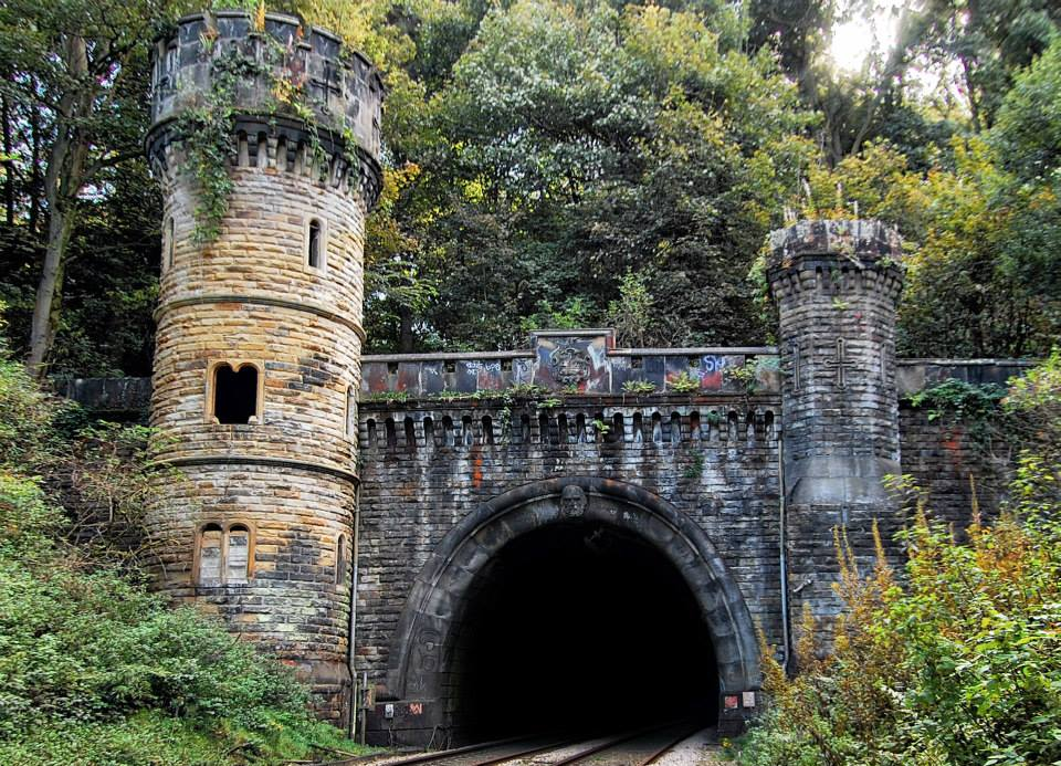 The Bramhope tunnel portal which was used to create the south tunnel facade.