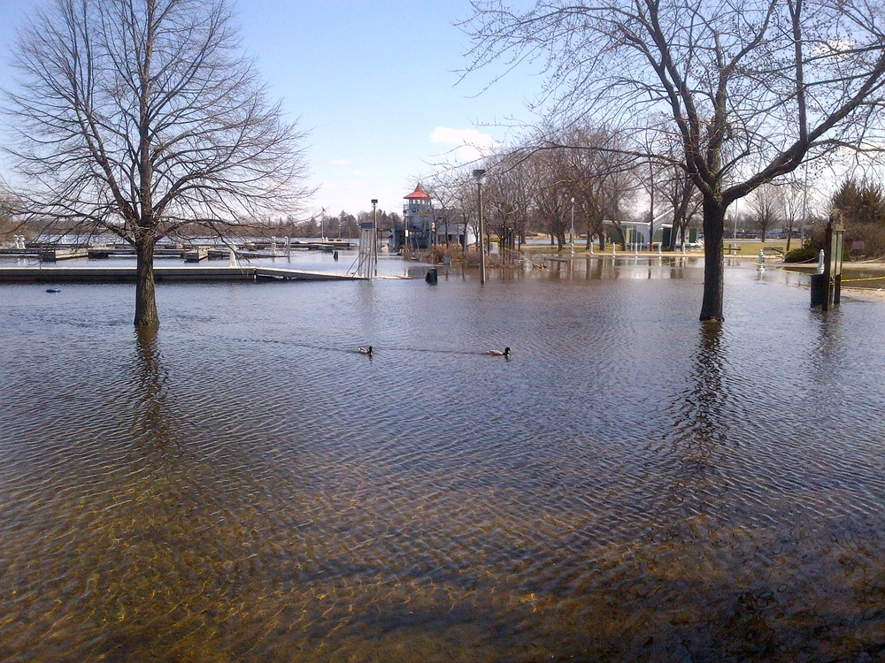 Crary Park under water
