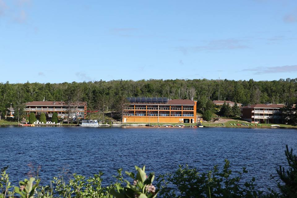 The view from the other side of the lake of Couples Resort