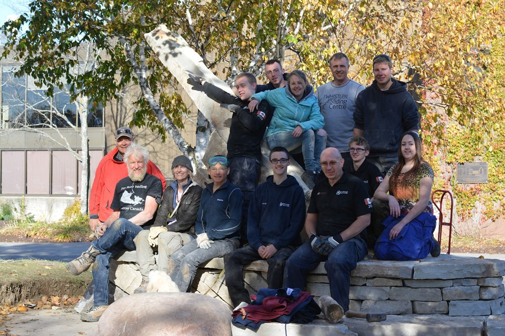 Entire class who took the Dry Stone Structure course