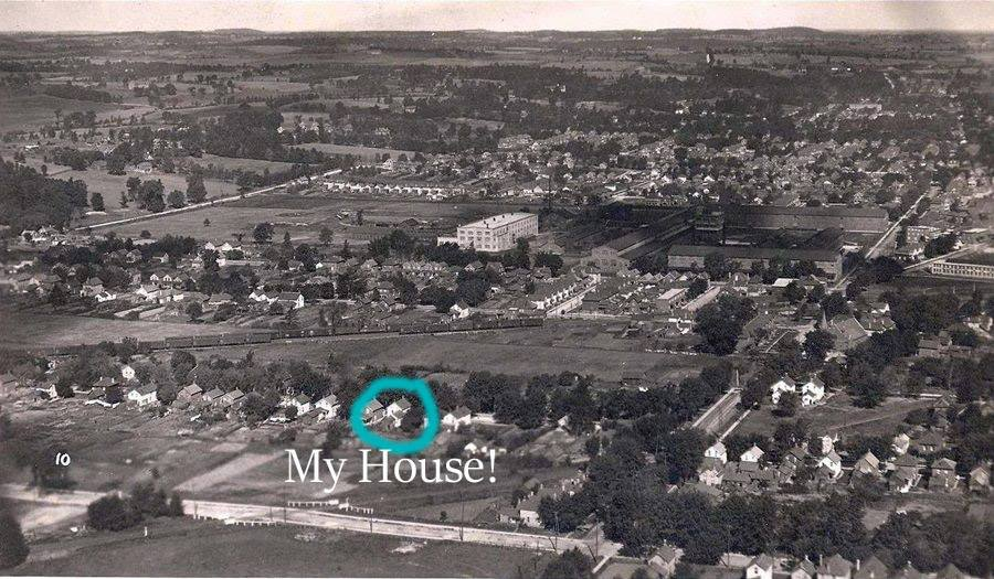 Someone Identified Their Current House From A 1922 Aerial