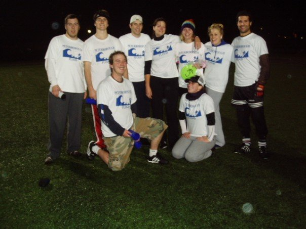 Our Aaron Elliott (far left) during his (all-star?) Trent Ultimate Frisbee Days
