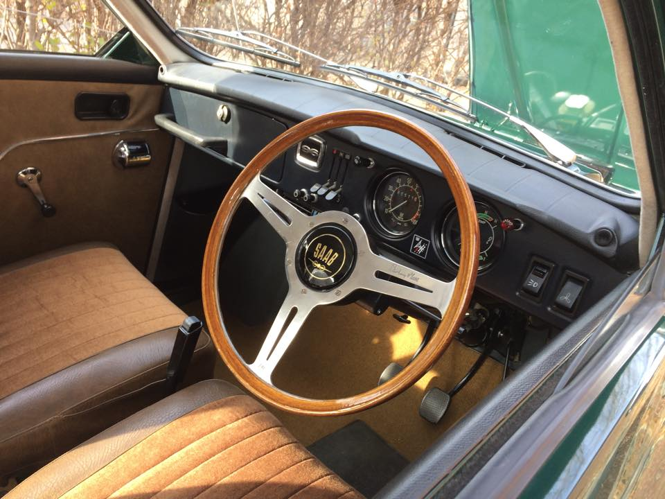 """The steering wheel was a 'barn find', Matt tells PTBOCanada, ""a Les Leston Stirling Moss, extremely rare find. Someone offered me $1,000 for it a few years ago!"""