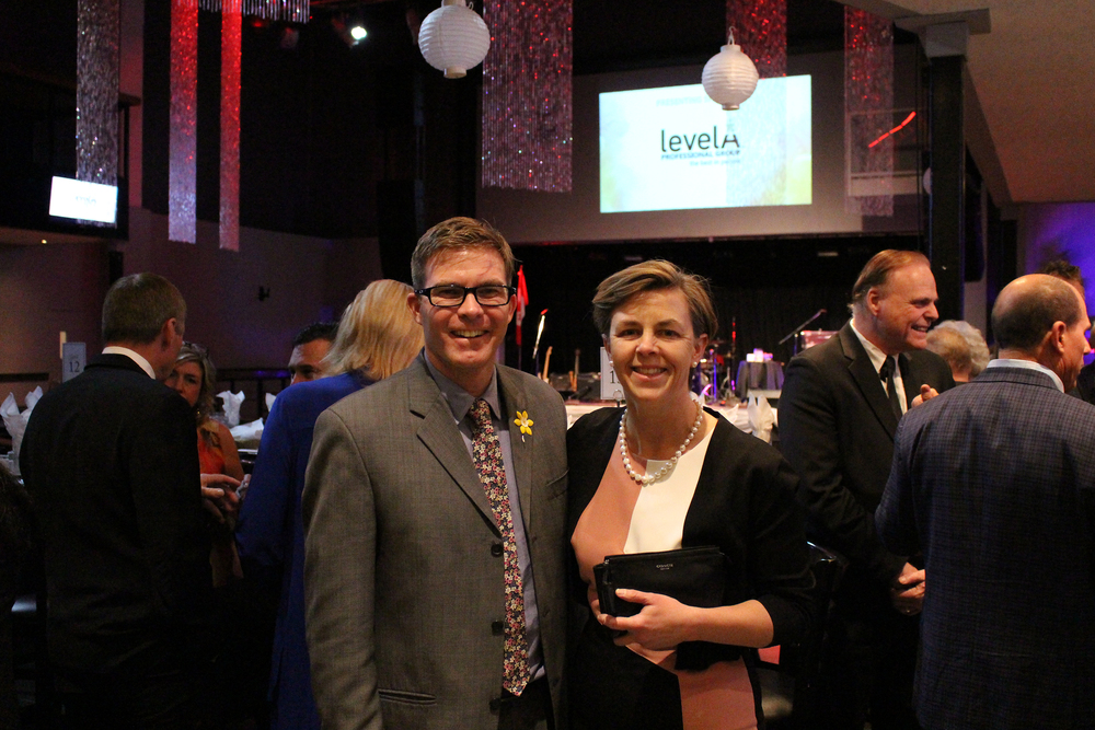 Pictured: Shawn Cooper and The Honourable Dr. Kellie Leitch