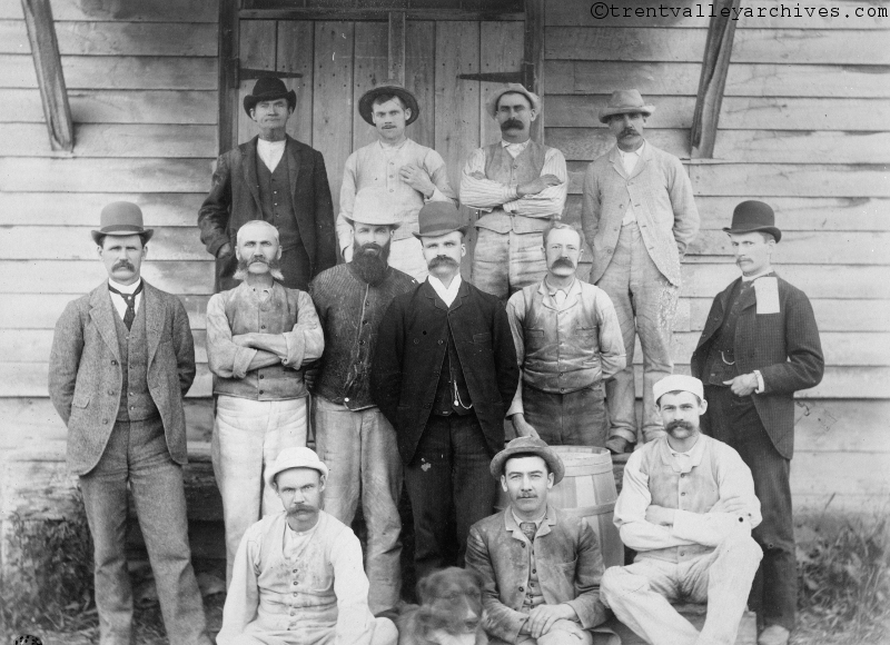 RB Rogers, pictured in the dark jacket near the centre, with his team of engineers.