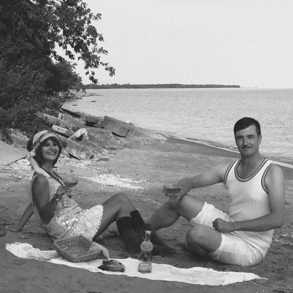 Gillian and Michael from 1926, er, 2016 at Port Hope Beach