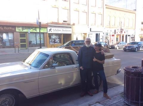 "Greg & Catalina with what Catalina calls his ""uber cool car"""