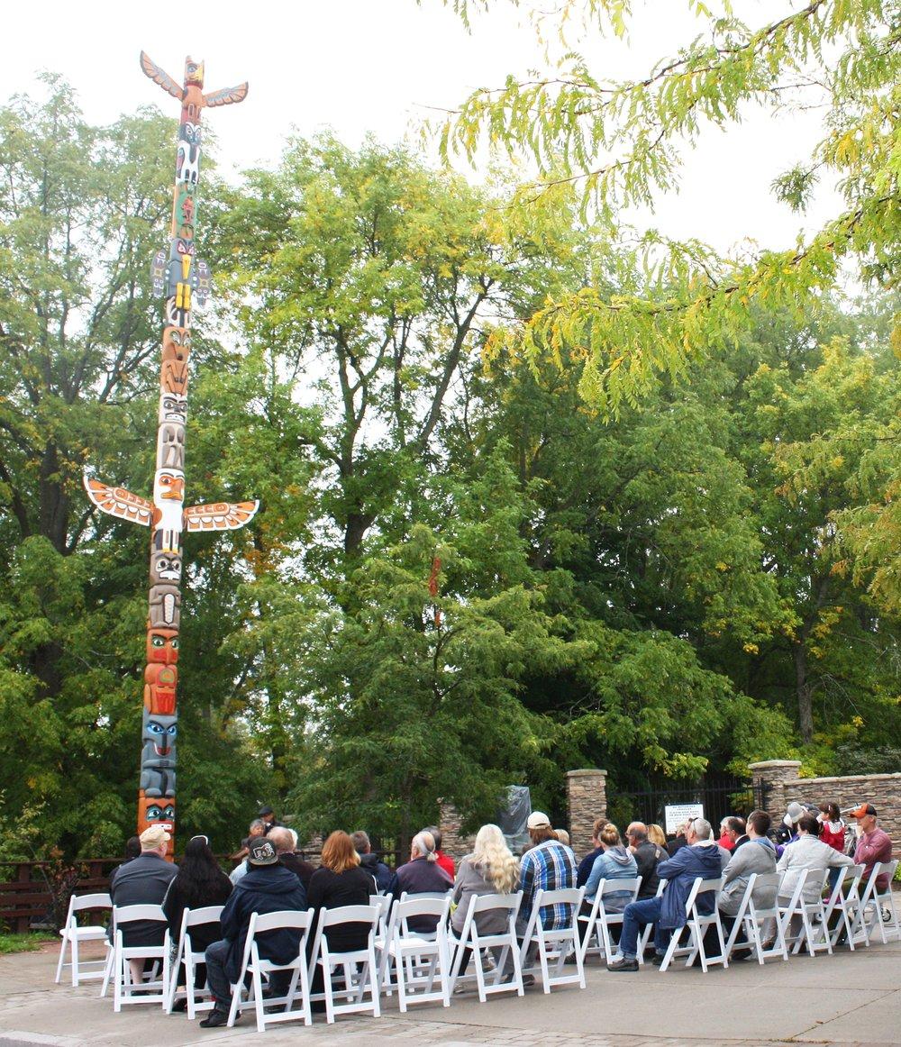 Photo of re-dedication ceremony