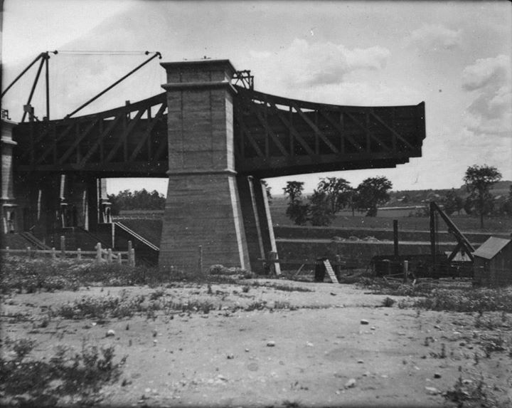 Lift Lock nearing completion, 1903