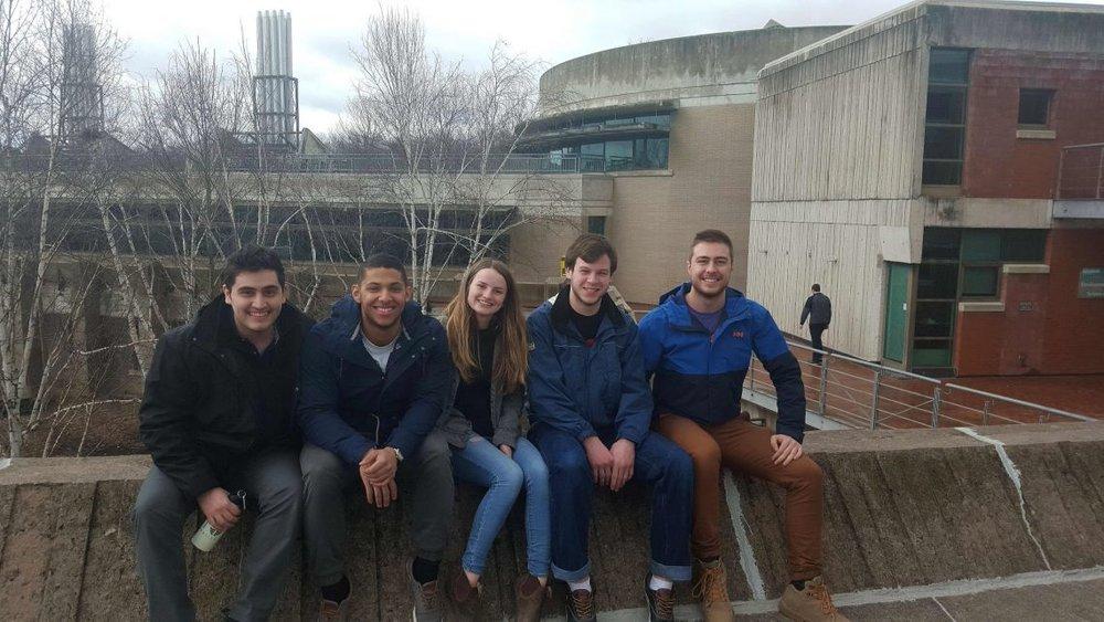 Electric City hack members (computer science students at Trent): Yashar Morabbi Heravi, Waun Broderick, Laura Mann, Matthew Barnes & Dexter Fichuk