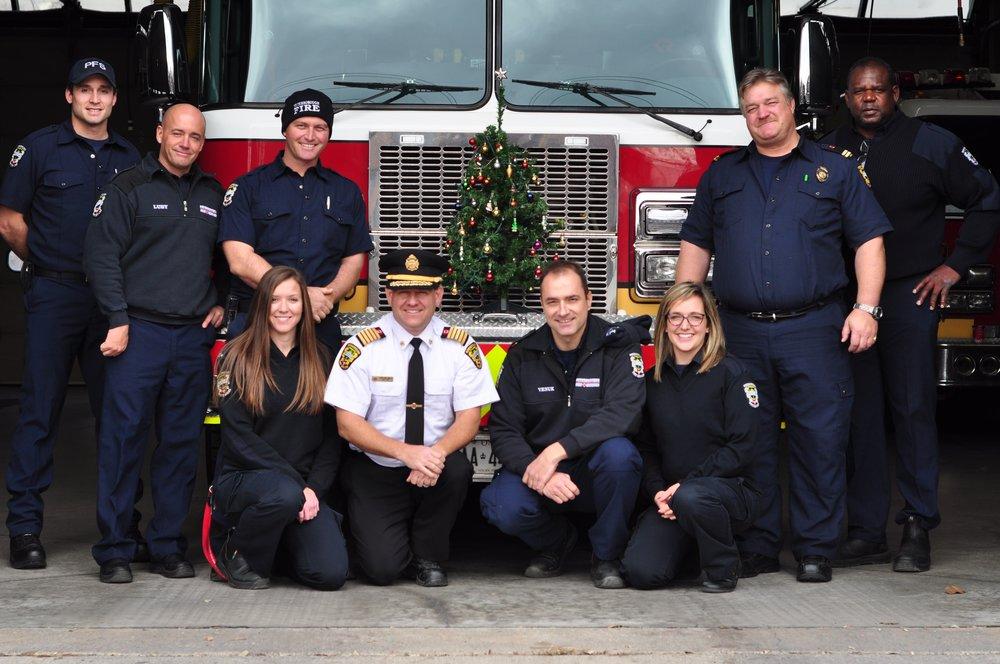 Left to right: Scott Lawder, Brad Luby, Mark Sullivan, Amanda Nichols, Chief Snetsinger, Ed Venuk, Jaclyn Finney, Joe Cadigan & Patrick Wayne