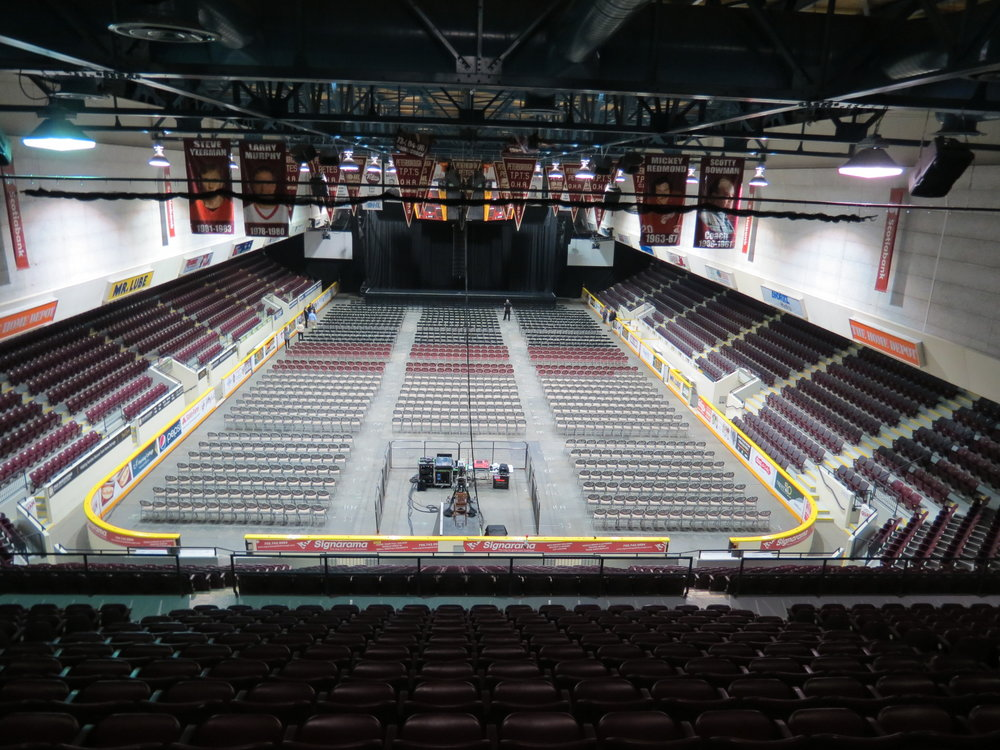 Every seat is a great one in the Memorial Centre!