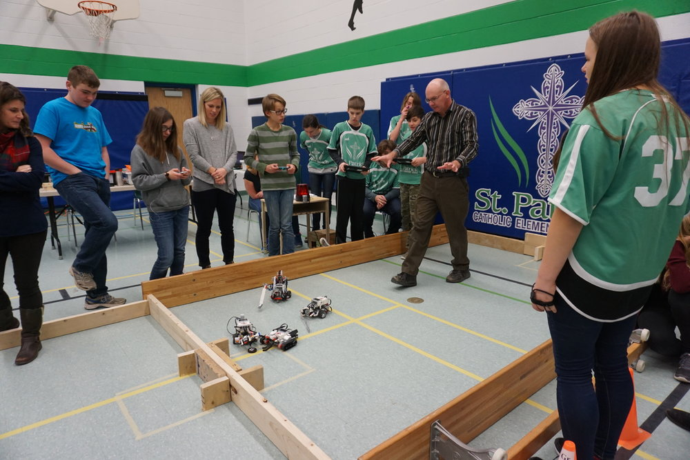 St. Patrick CES hosted the first ever Board-wide Robotics Competition in November 2016. Principal Karan Leal said her role as a Principal is to empower her staff to take chances and to embrace their talents and interests. Students at the school benefit from an array of extracurricular activities as a result.