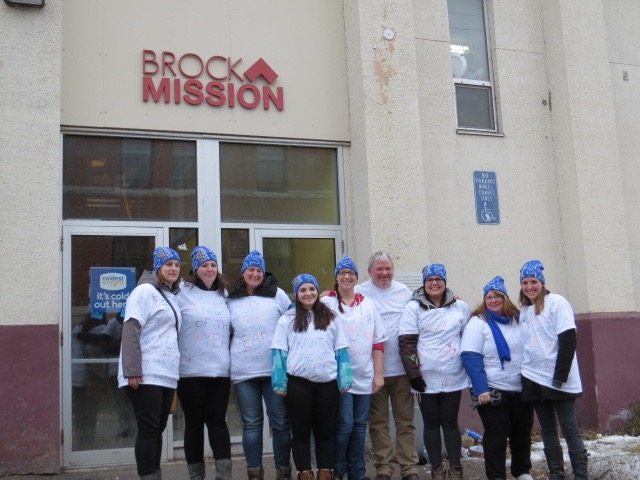 Team Cameron House with Bill McNabb, Executive Director of Brock Mission