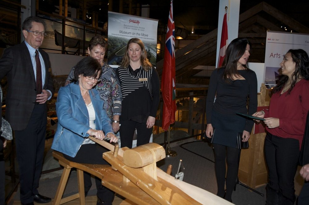 Photo from funding announcement courtesy Canoe Museum