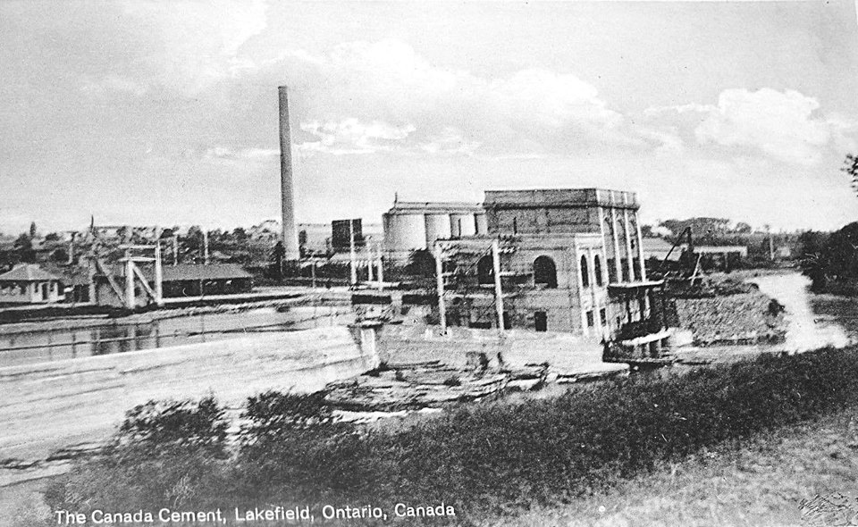 Canada Cement Plant in Lakefield ca.1938