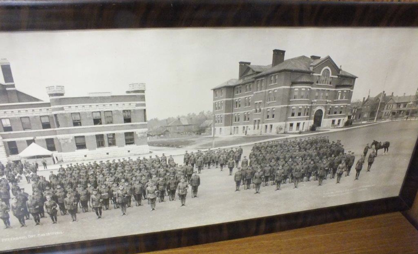 Historical photo courtesy Trent Valley Archives: Armoury (at left) and PCVS (at right)