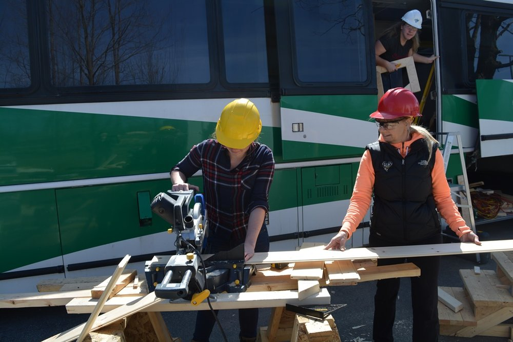April 13th: Fleming students & faculty at work on the bus